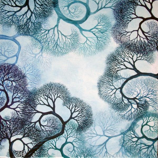 Everything Is Connected Mandala by Helen R Klebesadel