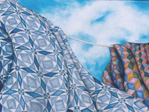 Tossed By The Sea Quilt by Helen R Klebesadel