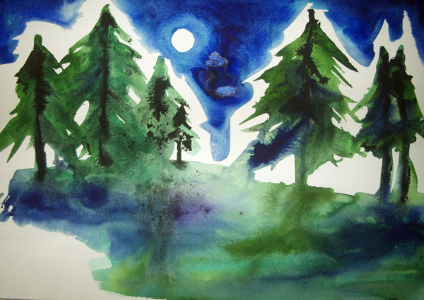 Ink Pines, 25 of 33 by Helen R Klebesadel