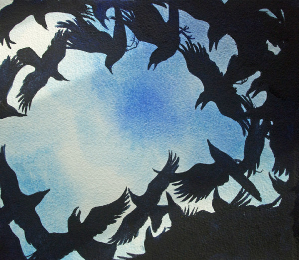Crow Dusk Study, 29 of 33 by Helen R Klebesadel