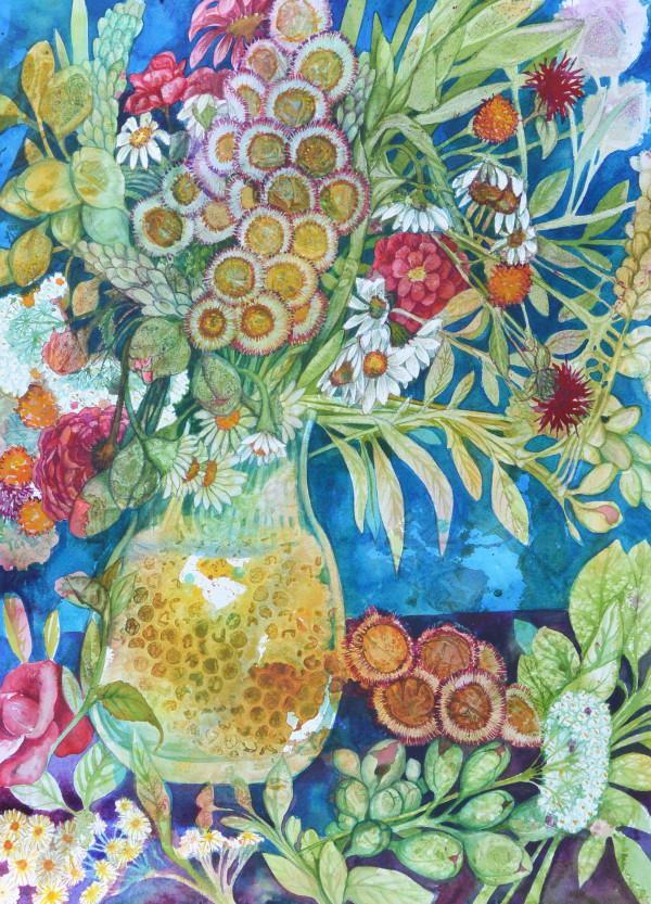 Summer Bouquet Study  III by Helen R Klebesadel