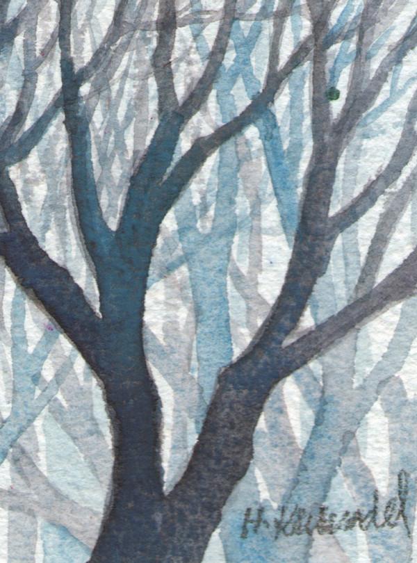 Woods Study ACEO original watercolor by Helen R Klebesadel