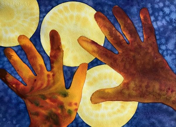 Artist Hands IV by Helen R Klebesadel