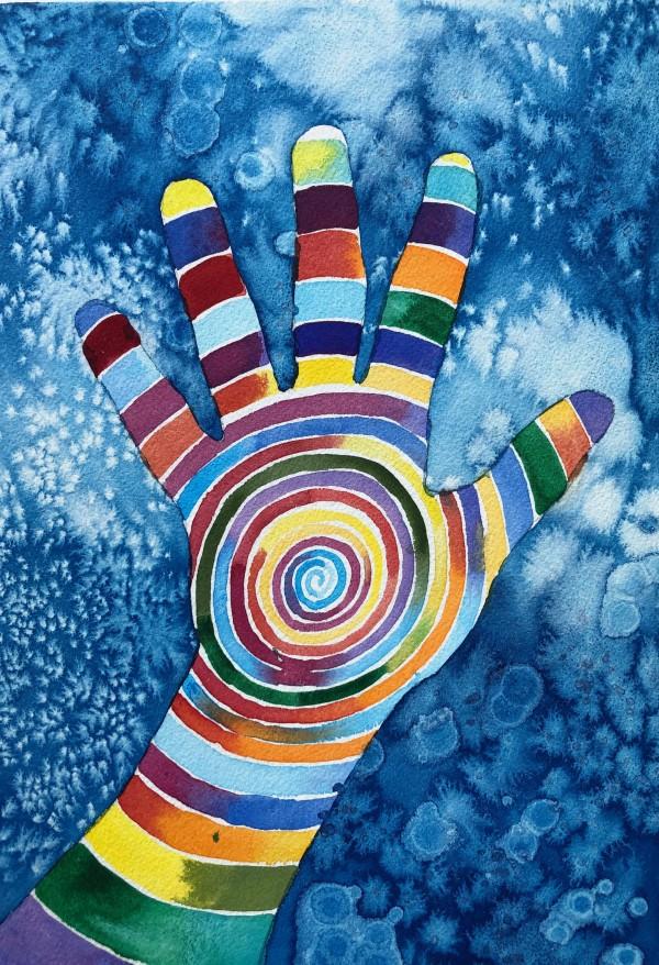 Artist Hands V by Helen R Klebesadel