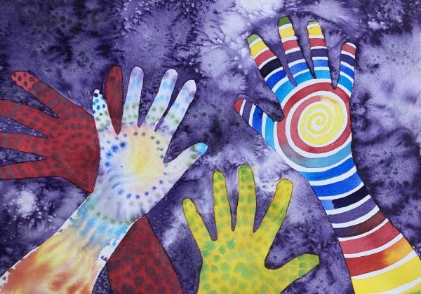 Artist Hands I by Helen R Klebesadel