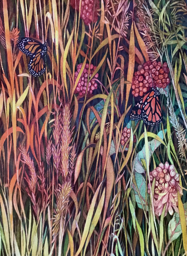 Autumn Grasses II by Helen R Klebesadel