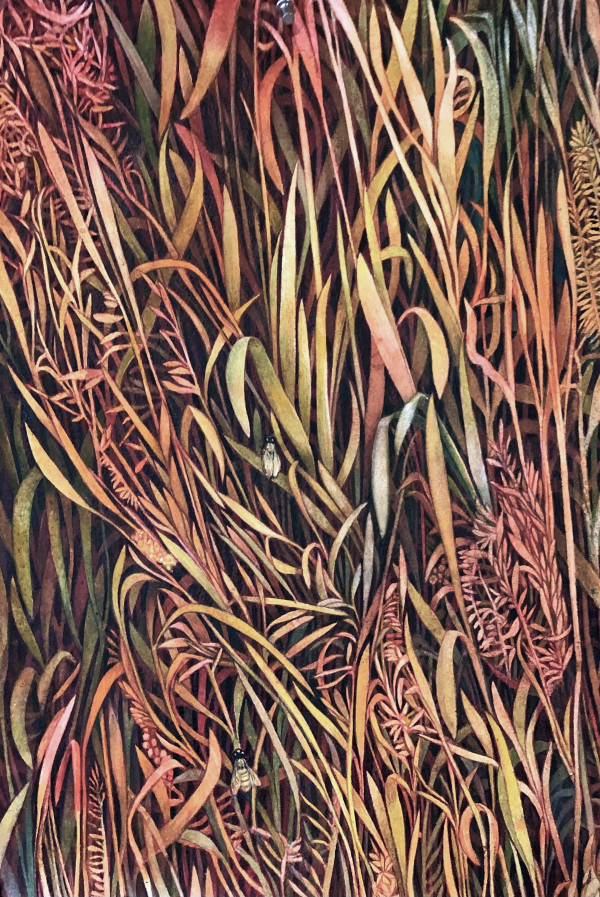 Autumn Grasses I by Helen R Klebesadel