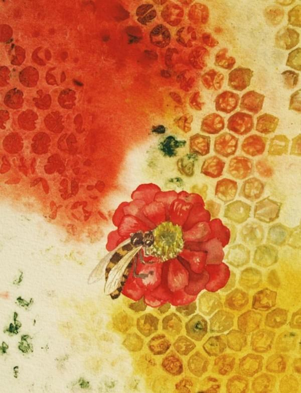Bee Pollinator III by Helen R Klebesadel