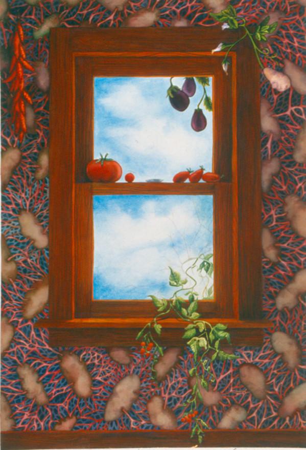 Belladonna Window III by Helen R Klebesadel