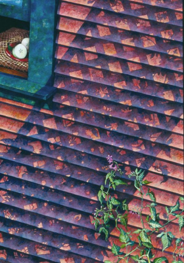 Belladonna Window II by Helen R Klebesadel