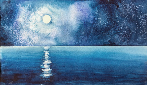 Blue Moon IV by Helen R Klebesadel