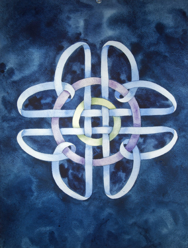 Borromean Rings III by Helen R Klebesadel