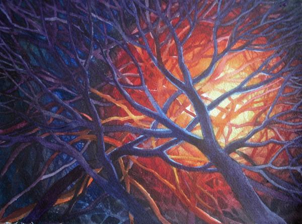 Bonfire Study II by Helen R Klebesadel