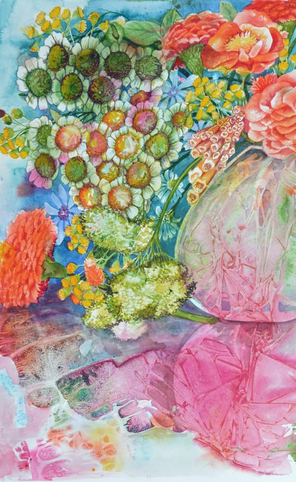 Summer Bouquet Study  II by Helen R Klebesadel