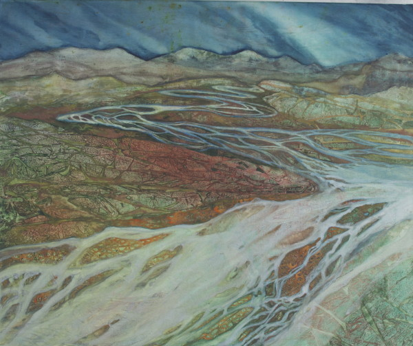 Braided River III by Helen R Klebesadel