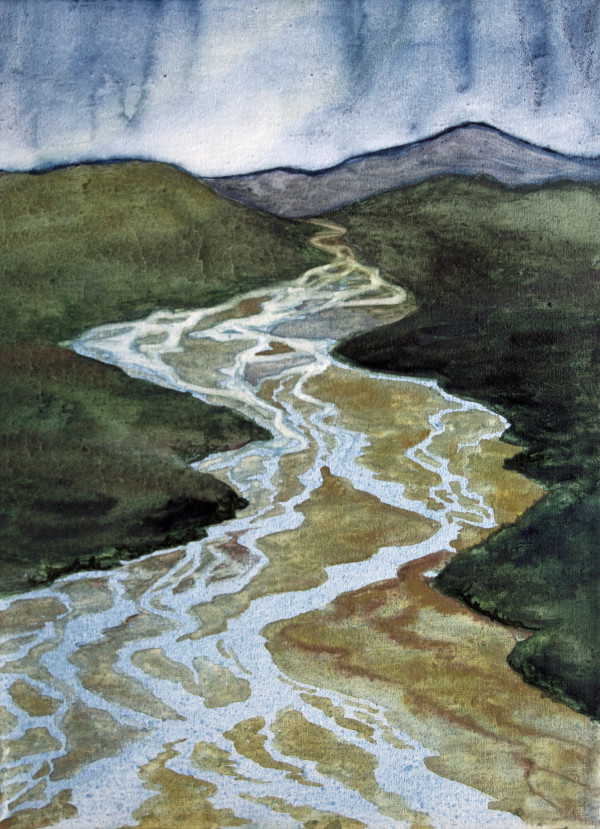 Braided Rivers I by Helen R Klebesadel