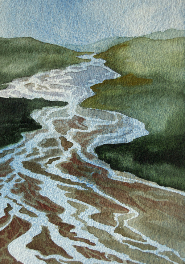Braided River II by Helen R Klebesadel