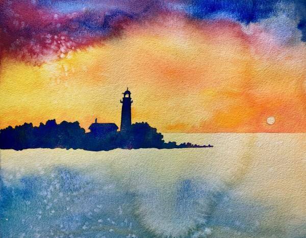 Cana Lighthouse by Helen R Klebesadel