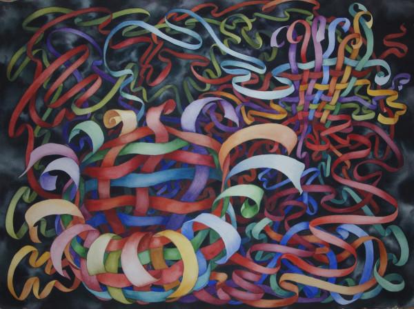 Organized Chaos, Ribbons III by Helen R Klebesadel