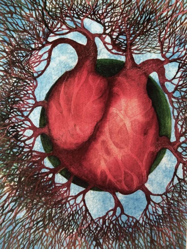 Earth Heart Study II by Helen R Klebesadel