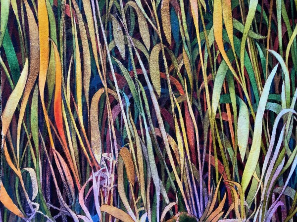 Fall Grasses IV an original watercolor on paper by Helen R Klebesadel