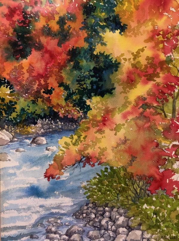 Fall River Study by Helen R Klebesadel