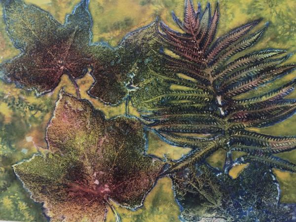 Fern and Maple Leaves by Helen R Klebesadel