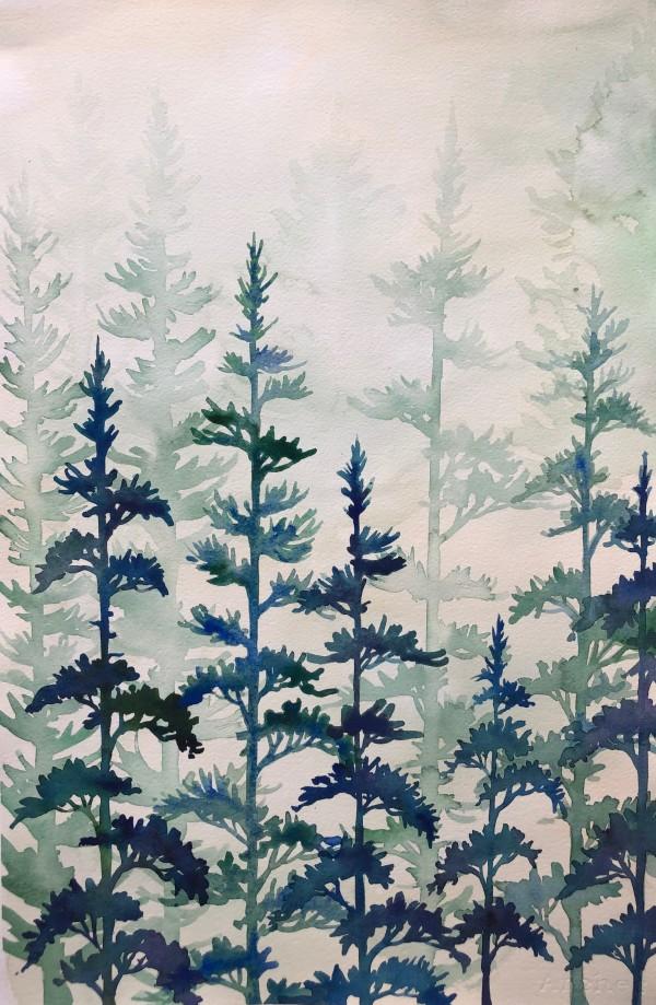 Forest In Mist IV by Helen R Klebesadel