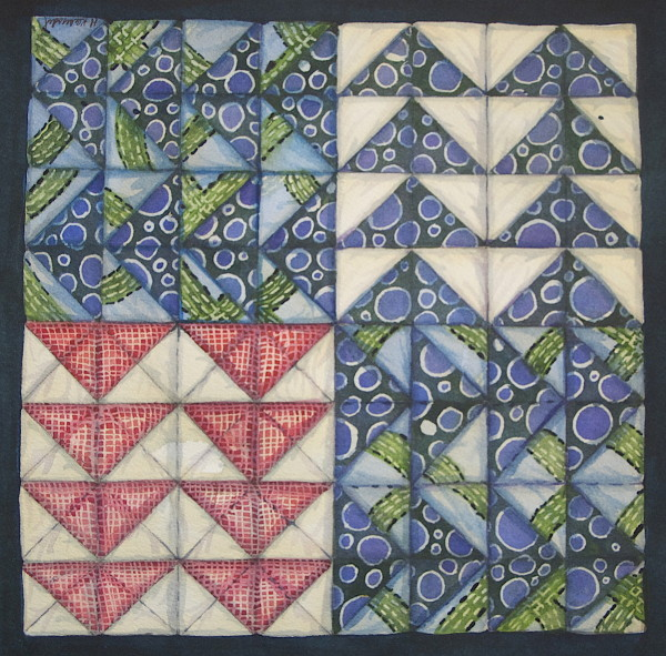 Quilt Square:  Flying Geese by Helen R Klebesadel