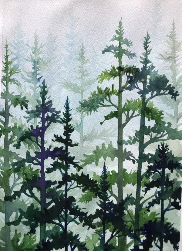 Forest In Mist III by Helen R Klebesadel