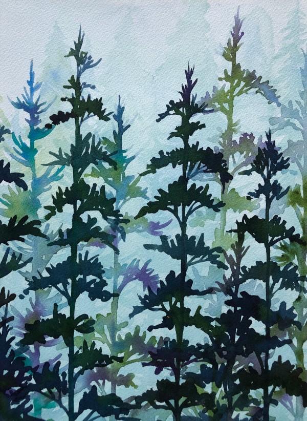 Forest in Mist II by Helen R Klebesadel