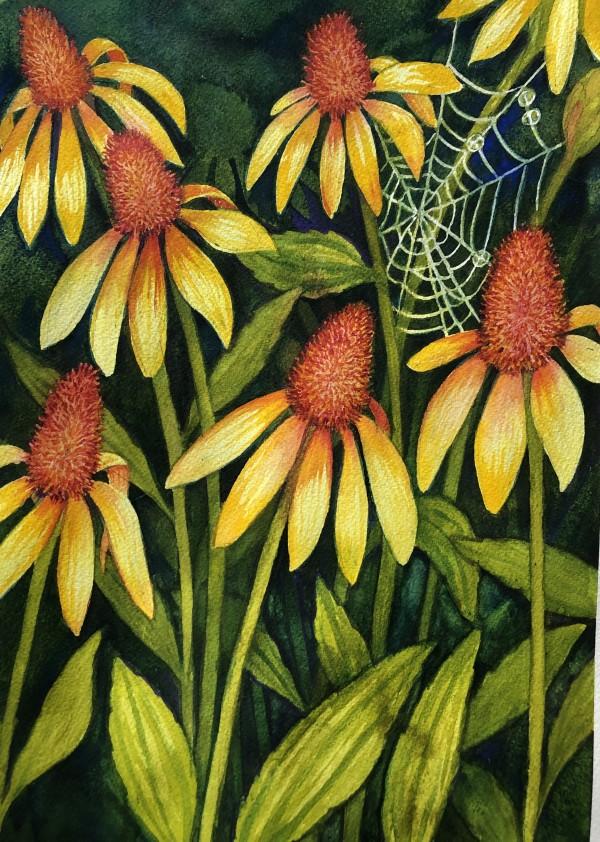 Garden Daisies II by Helen R Klebesadel