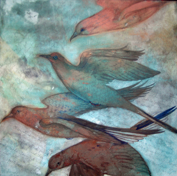 12 Cents a Dozen,  Passenger Pigeons II by Helen R Klebesadel