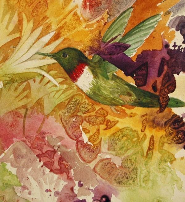 Humming Bird Pollinator III by Helen R Klebesadel