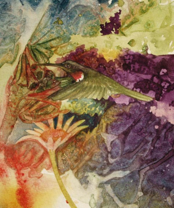 Humming Bird Pollinator II by Helen R Klebesadel