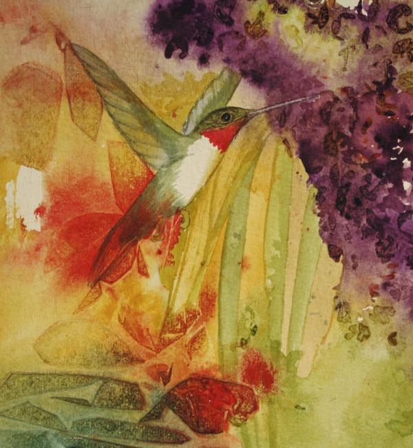 Humming Bird Pollinator I by Helen R Klebesadel