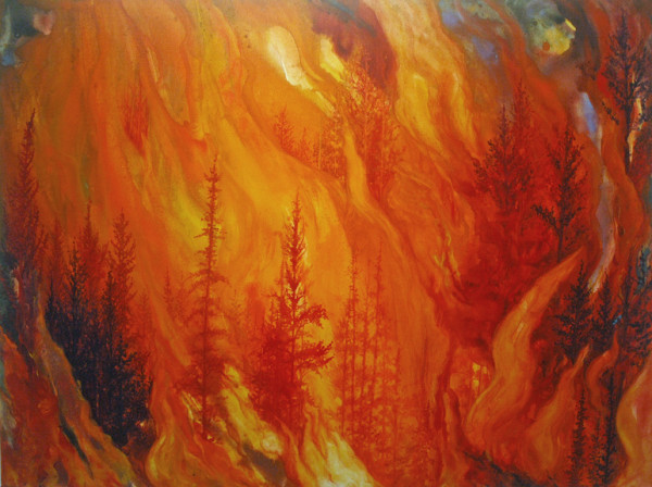 Forest Inferno by Helen Klebesadel