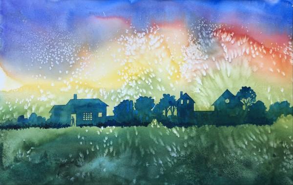 Home Town Night by Helen R Klebesadel
