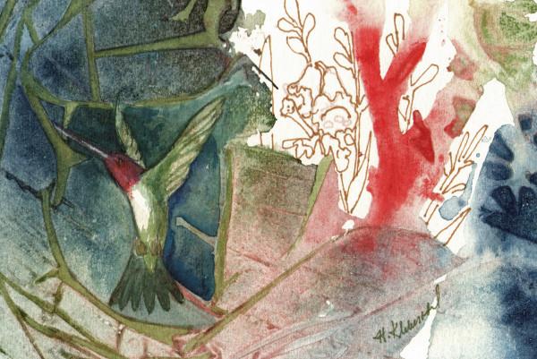 Humminbird Study an original watercolor by Helen R Klebesadel