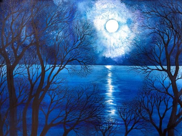 Blue Moon V by Helen R Klebesadel
