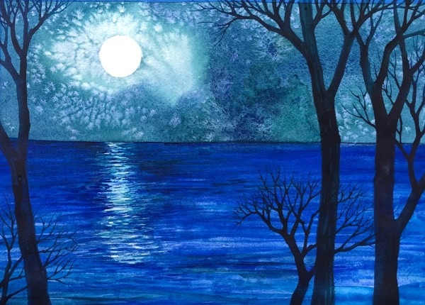 Blue Moon II by Helen R Klebesadel