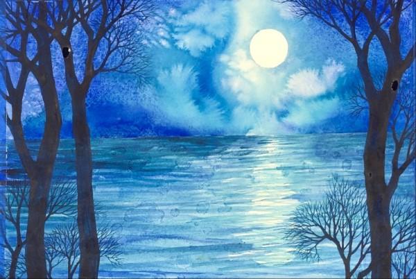 Blue Moon III by Helen R Klebesadel