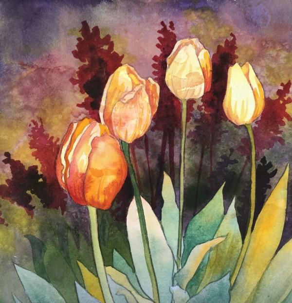 Tulips IV by Helen R Klebesadel