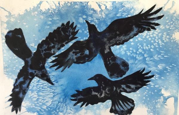 Three Crows by Helen R Klebesadel