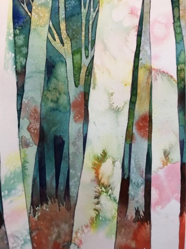 Birch Woods V by Helen R Klebesadel