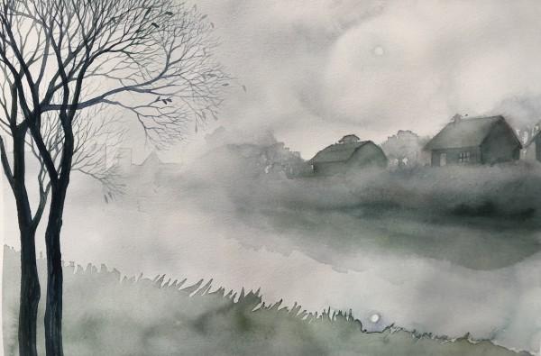 Misty River by Helen R Klebesadel