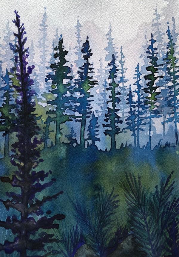 Forest Study II by Helen R Klebesadel