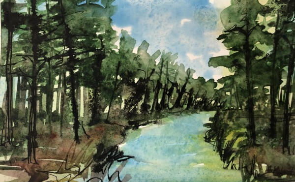 Pine River Path by Helen R Klebesadel
