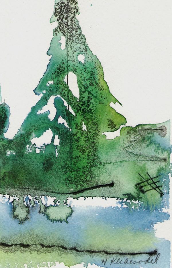 Lone Pine original watercolor by Helen R Klebesadel