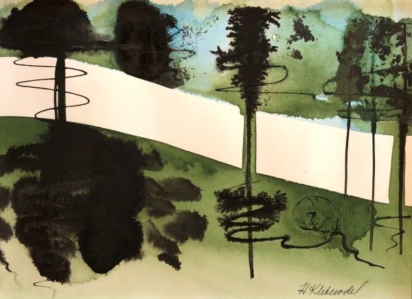 Ink Tree Study I by Helen R Klebesadel